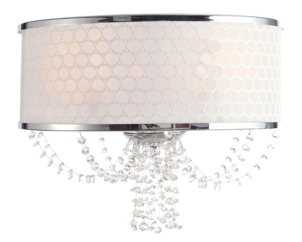 Crystorama Lighting Group 9802-CH Allure 2 Light Wall Sconce with