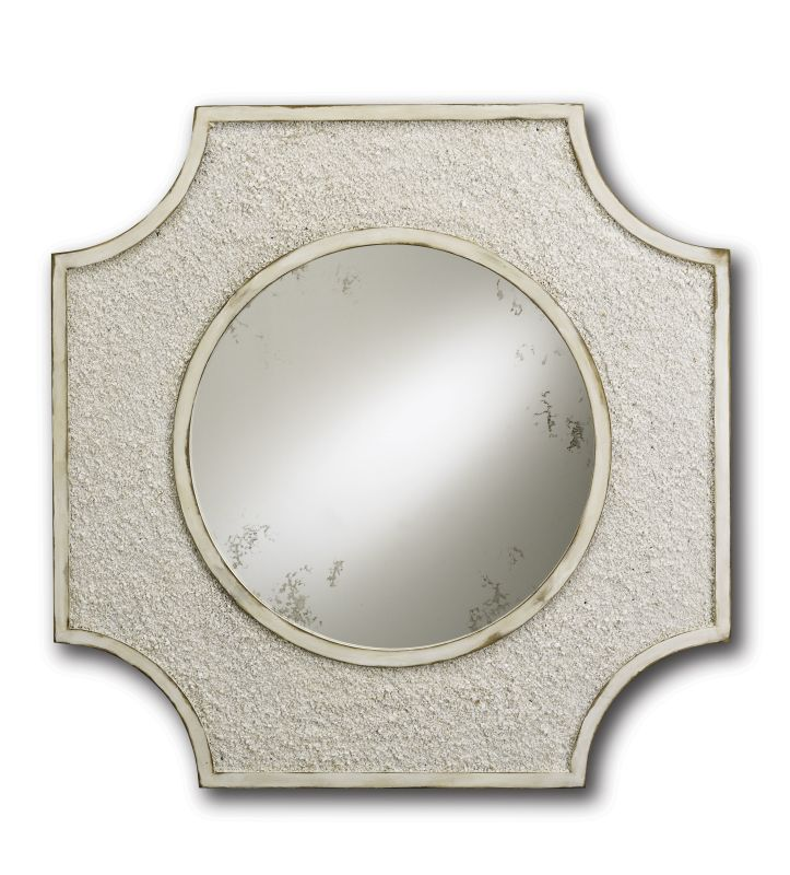 Currey and Company 1005 Endsleigh Mirror Natural / Antique White Home
