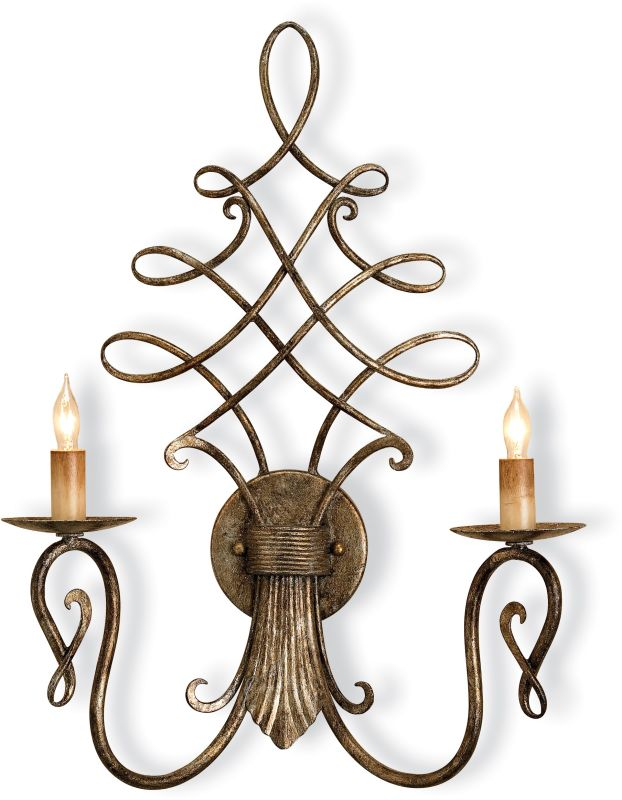 Currey and Company 5006 Regiment Wall Sconce with Customizable Shades