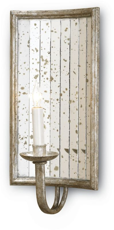 """Currey and Company 5405 Twilight 8"""" Wall Sconce with Glass Accents"""