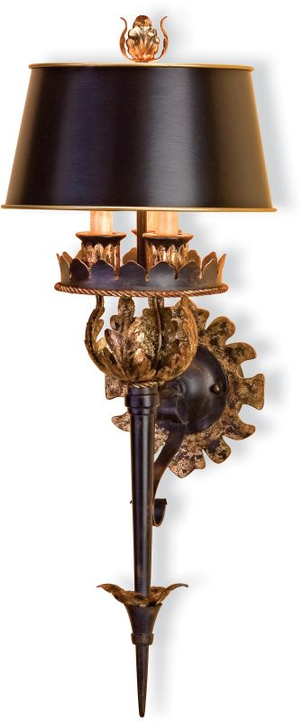 Currey and Company 5412 The Duke Wall Sconce with Included Zanzibar