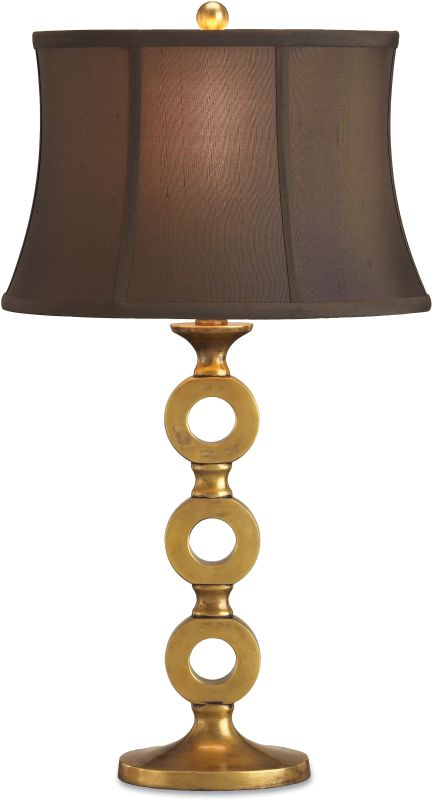 Currey and Company 6152 Bergamo Table Lamp with Brown Shantung Shades