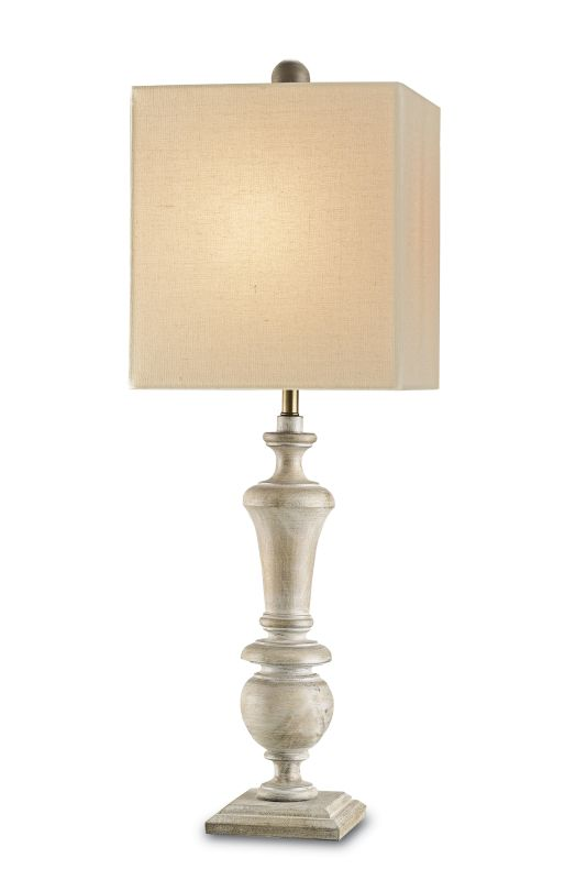 Currey and Company 6321 Stendhal Table Lamp with Bone Linen Shade and