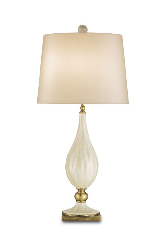 Currey and Company 6325 Belfort Table Lamp with Cream Silk Shade and
