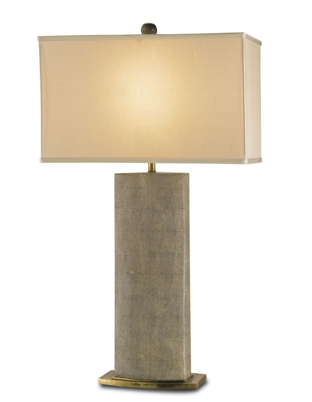 Currey and Company 6355 Rutherford Table Lamp with Beige Silk Shade