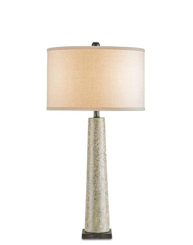 Currey and Company 6388 Epigram Table Lamp with Bone Linen Shade and