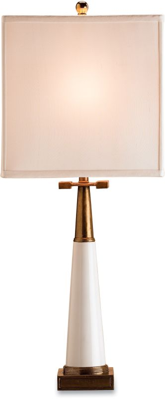 Currey and Company 6442 Signature Table Lamp with White Shantung