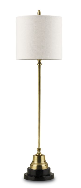 Currey and Company 6472 Messenger 1 Light Brass Table Lamp with
