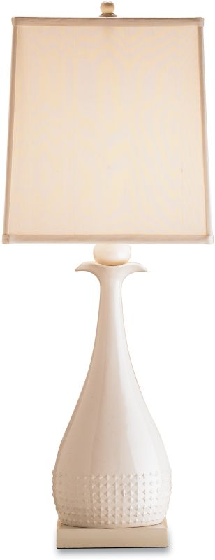 Currey and Company 6525 Ella Table Lamp with Cream Silk Shades White