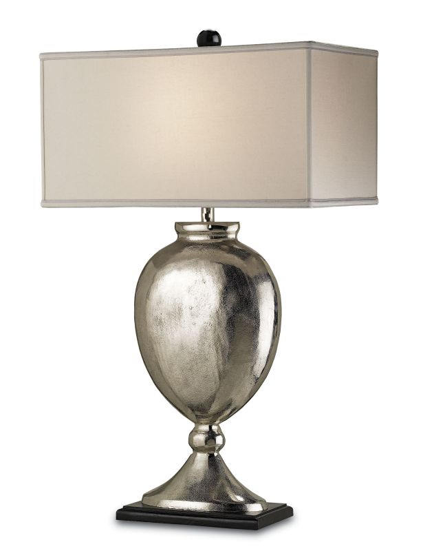 Currey and Company 6650 Marmont 1 Light Aluminum Table Lamp with Bone