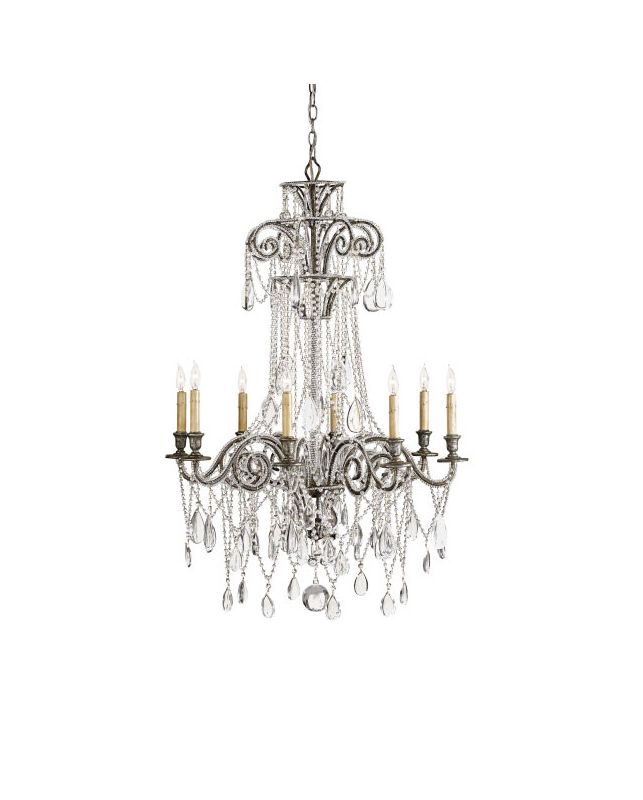 "Currey and Company 9051 Lillian 45""H 8 Light Chandelier with Optional"