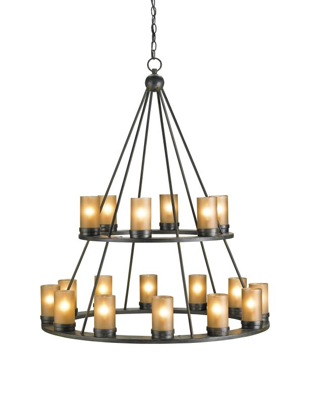 Currey and Company 9077 Darden 18 Light Chandelier in Old Iron Finish