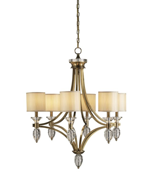 Currey and Company 9081 Sebastian 6 Light Chandelier in Coffee Bronze