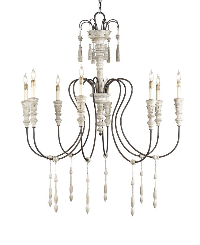 Currey and Company 9120 Hannah 8 Light Wrought Iron Chandelier Sale $2380.00 ITEM#: 1586916 MODEL# :9120 :