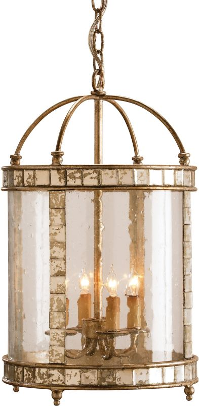 Currey and Company 9229 Corsica Lantern Small Harlow Silver Leaf