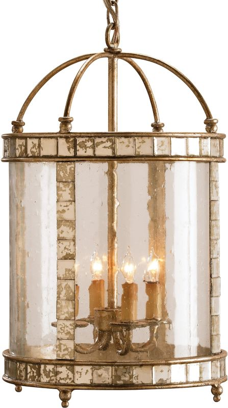 Currey and Company 9239 Corsica Lantern Large Harlow Silver Leaf