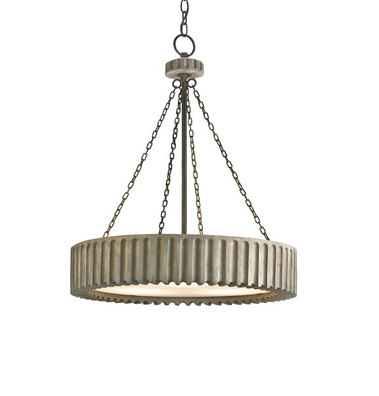 Currey and Company 9326 Greyledge 3 Light Chandelier in Old Iron /