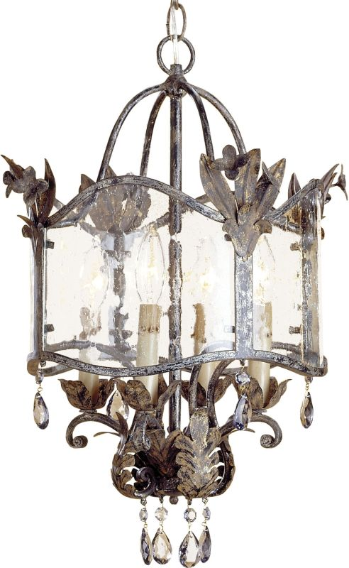Currey and Company 9357 Zara Foyer Pendant Viejo Gold/Silver Indoor