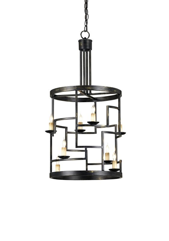 Currey and Company 9419 Spyro 8 Light Lantern in French Black Finish Sale $870.00 ITEM#: 1378774 MODEL# :9419 :
