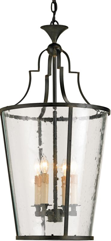 Currey and Company 9468 Fergus Lantern Old Iron Indoor Lighting