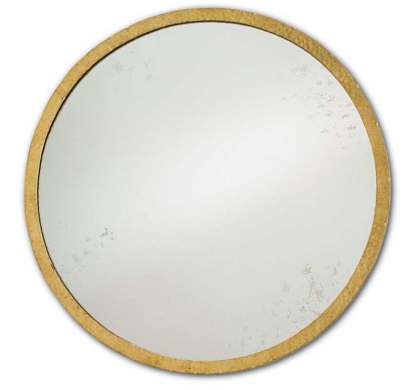 Currey and Company 1096 Aline Round Iron Frame Mirror Contemporary