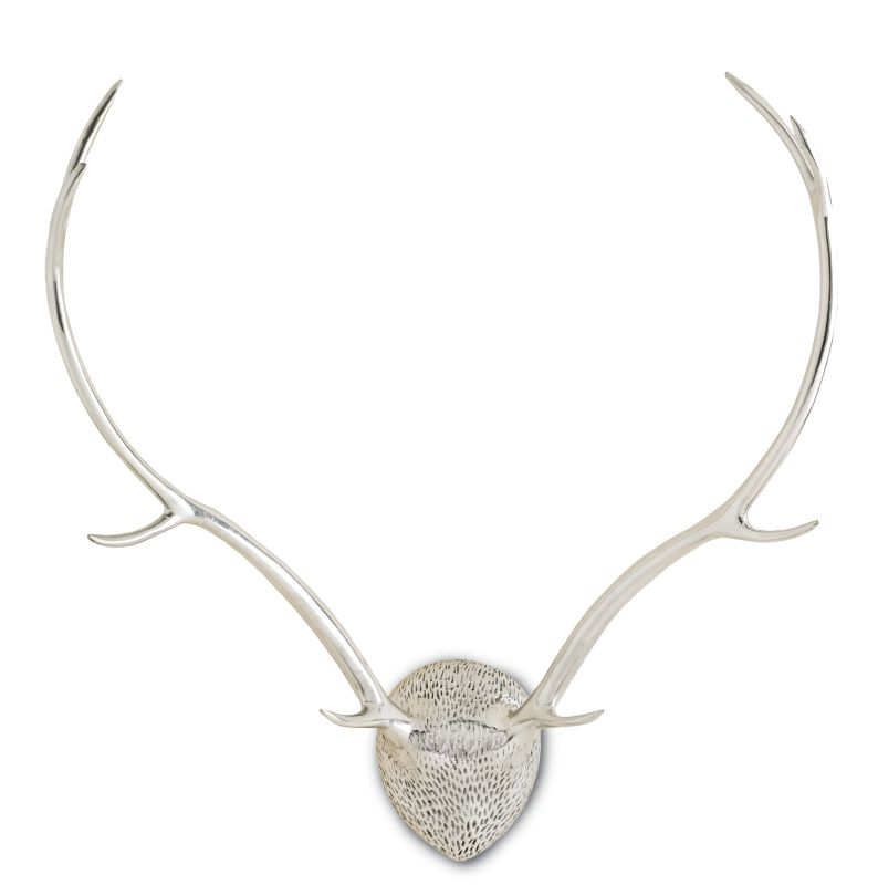 "Currey and Company 1098 Exley 29"" Antler Wall Ornament Polished"