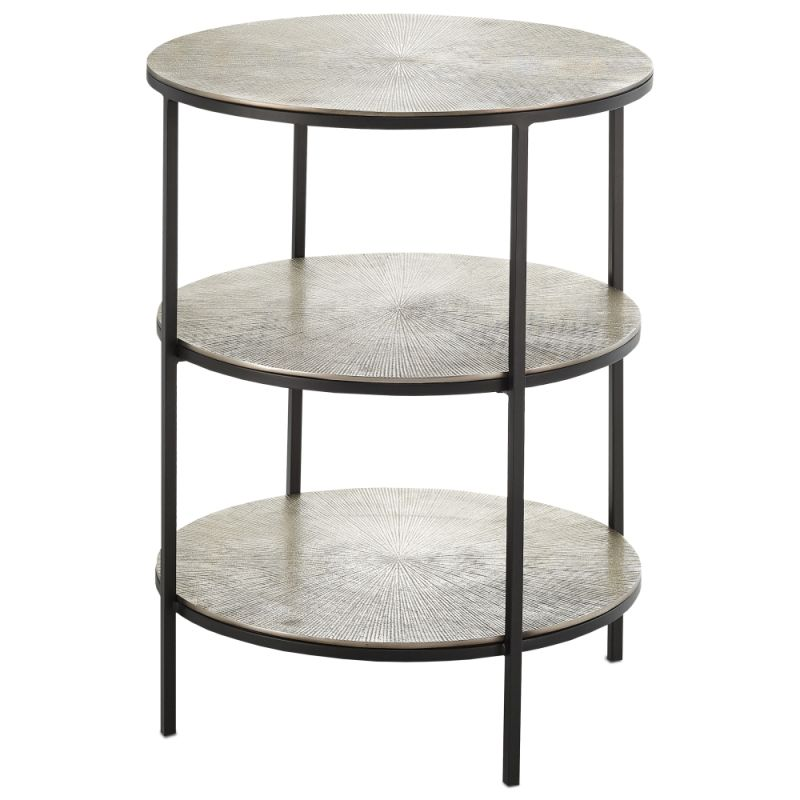 "Currey and Company 4000-0013 Cane 20"" Wide Accent Table with Cast"