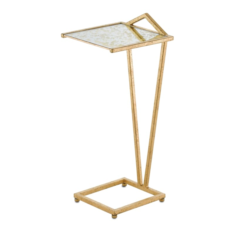 """Currey and Company 4000-0021 Veda 10"""" Wide Drinks Table with Mirrored"""