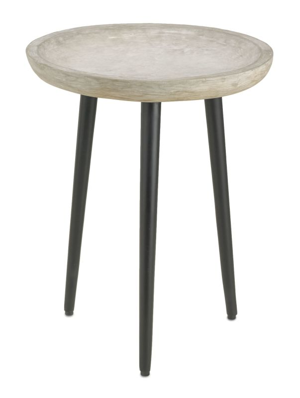 "Currey and Company 4161 Campo 23"" Tall Accent Table Satin Black"