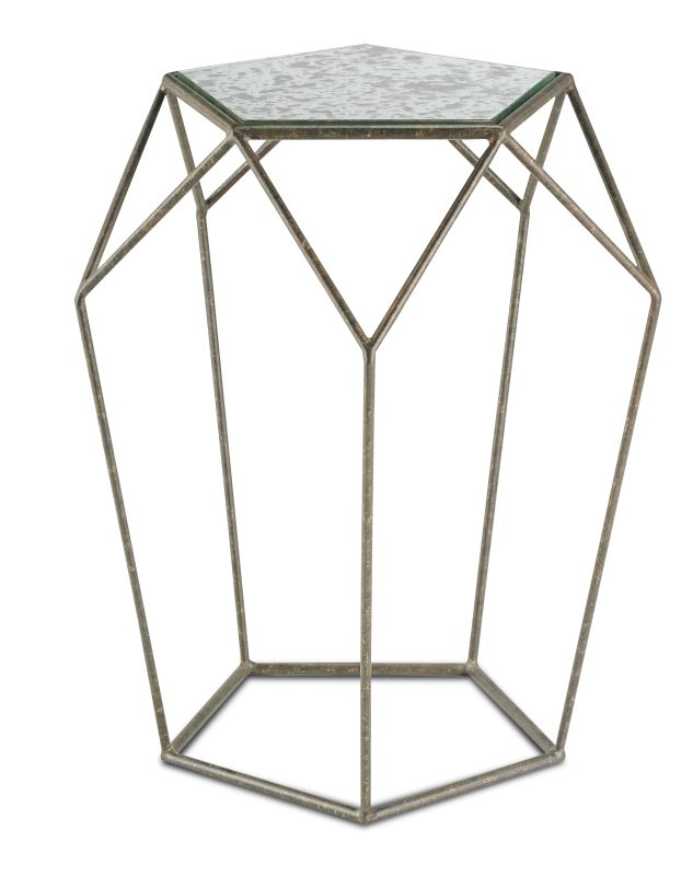 """Currey and Company 4173 Axiom 24.25"""" Tall Accent Table Mayfair /"""