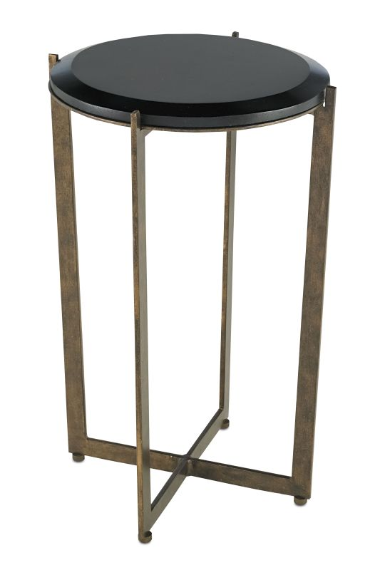Currey and Company 4194 Galbi Wrought Iron Bar Table Cupertino / Black