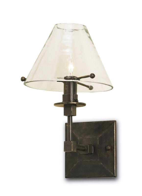 Currey and Company 5127 Kiran 1 Light Wall Sconce Bronze Gold Indoor