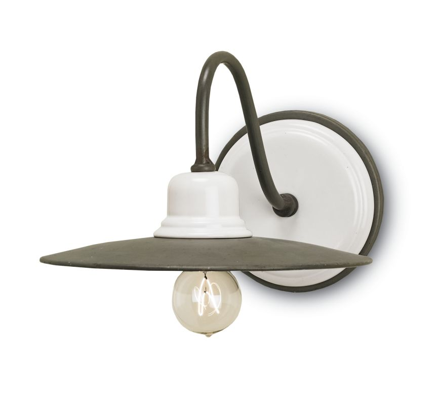 "Currey and Company 5154 Eastleigh 1 Light 12"" High Wall Sconce White"