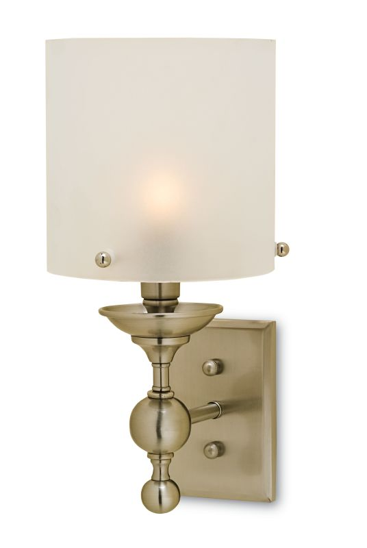 "Currey and Company 5198 Pennsbury 7"" Wide Wall Sconce Polished Nickel"