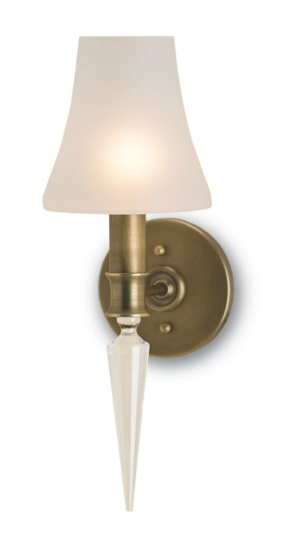 "Currey and Company 5201 Kennedy 6"" Wide Wall Sconce Antique Brass"