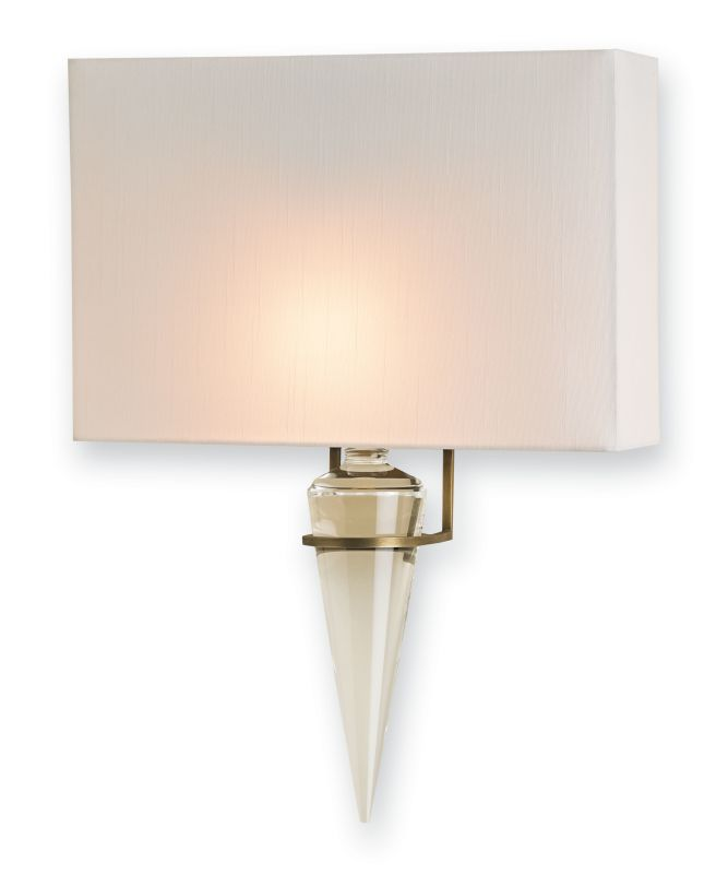 """Currey and Company 5203 Larsen 13"""" Wide Wall Sconce Antique Brass"""