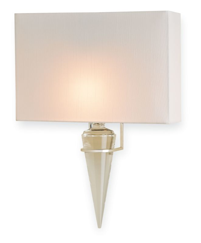 "Currey and Company 5204 Larsen 13"" Wide Wall Sconce Polished Nickel"