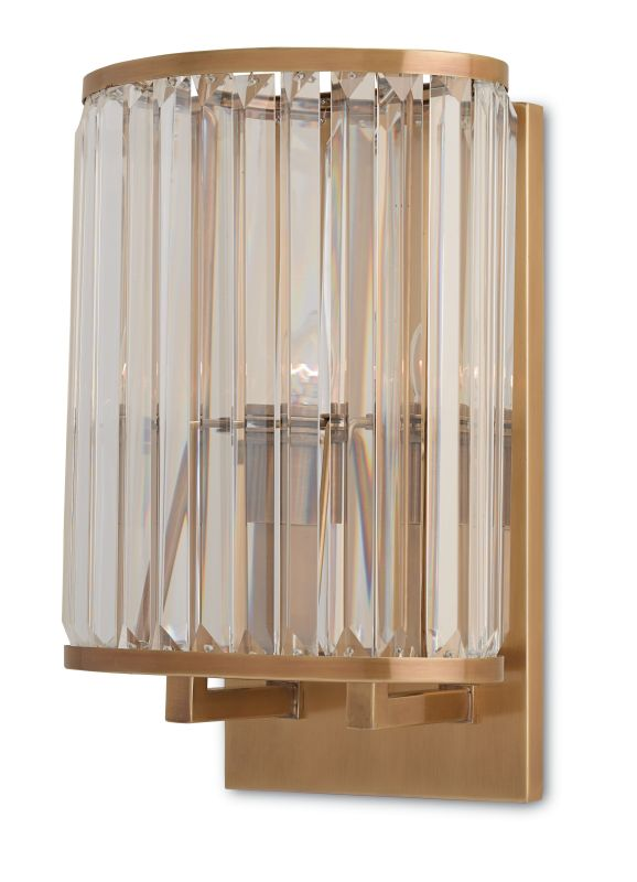 Currey and Company 5212 Enlightenment 2 Light Wall Sconce with Glass