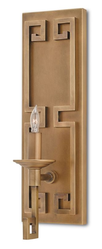 Currey and Company 5230 Greek Key 1 Light Wall Sconce Antique Brass Sale $570.00 ITEM#: 2798800 MODEL# :5230 :