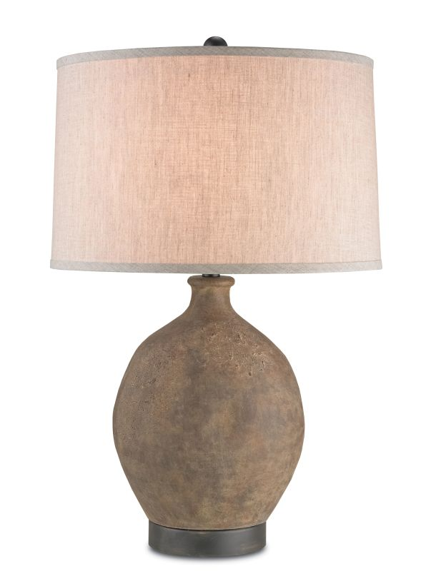 Currey and Company 6018 Petra 1 Light Accent Table Lamp Distressed