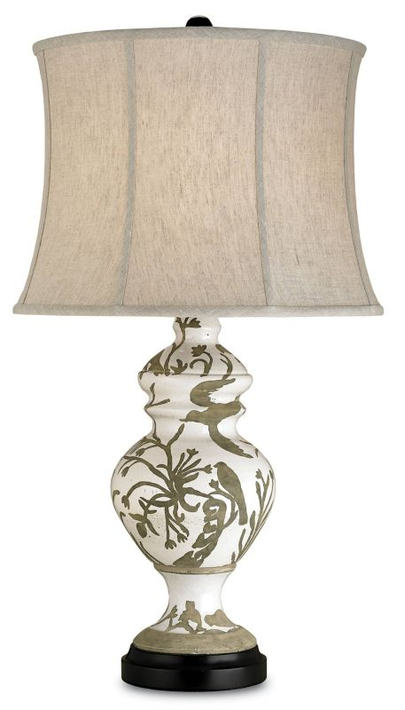 Currey and Company 6049 Giardino Table Lamp with Natural Linen Shades