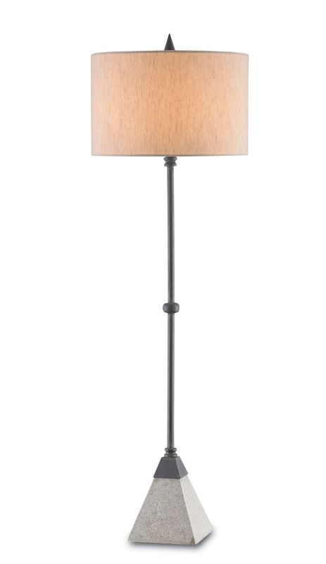 Currey and Company 6190 Irwin 1 Light Table Lamp with Beige Poplin