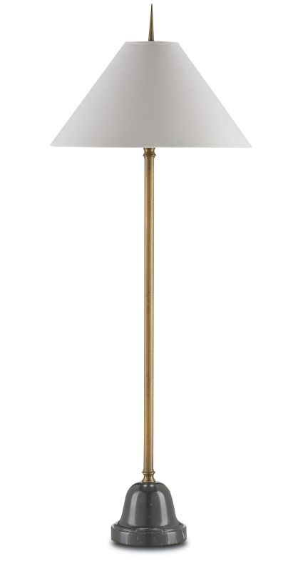 Currey and Company 6225 Calabash 1 Light Table Lamp with White