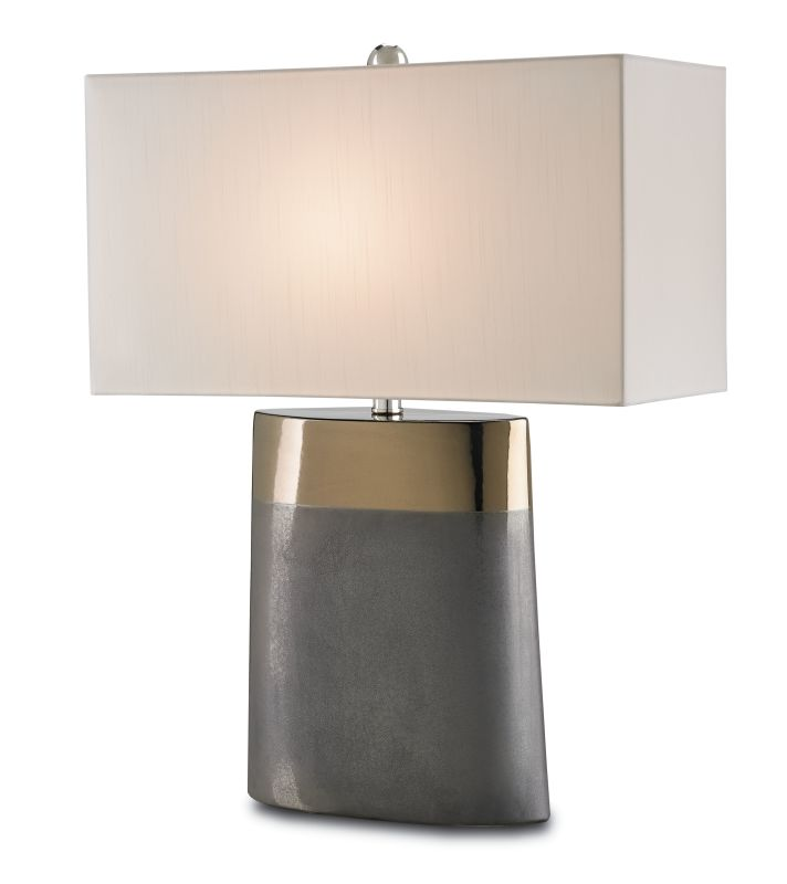 Currey and Company 6250 Moonrise 1 Light Table Lamp with Off White