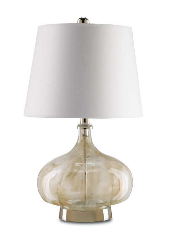 Currey and Company 6374 Polonaise 1 Light Table Lamp Smoked Sand Lamps