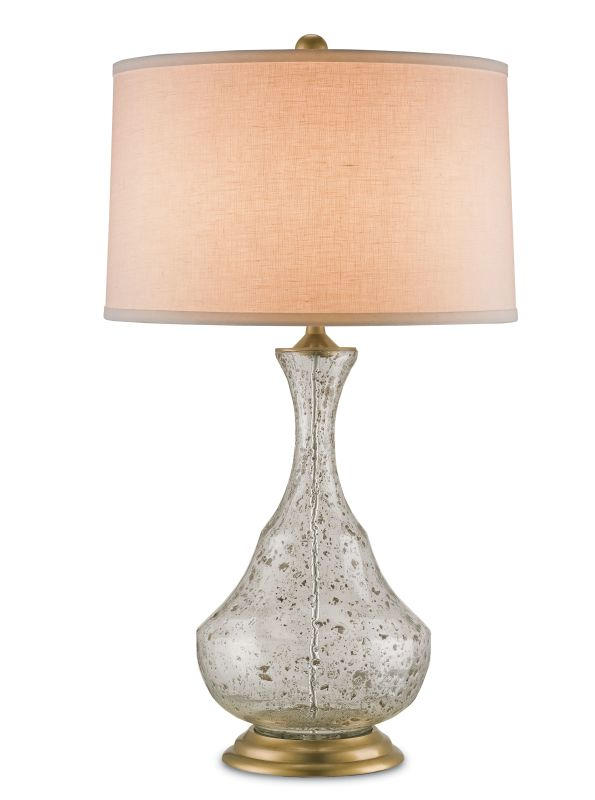 Currey and Company 6387 Trillo 1 Light Table Lamp Clear Bubbled Glass