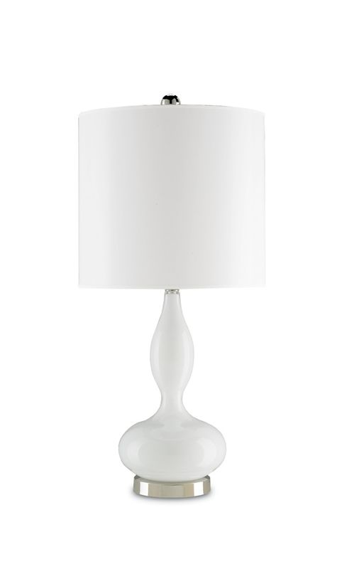 Currey and Company 6484 Lola 1 Light Table Lamp Opal White / Polished