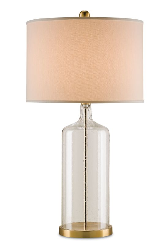 Currey and Company 6510 Hazel 1 Light Table Lamp Clear Seedy Bubbled