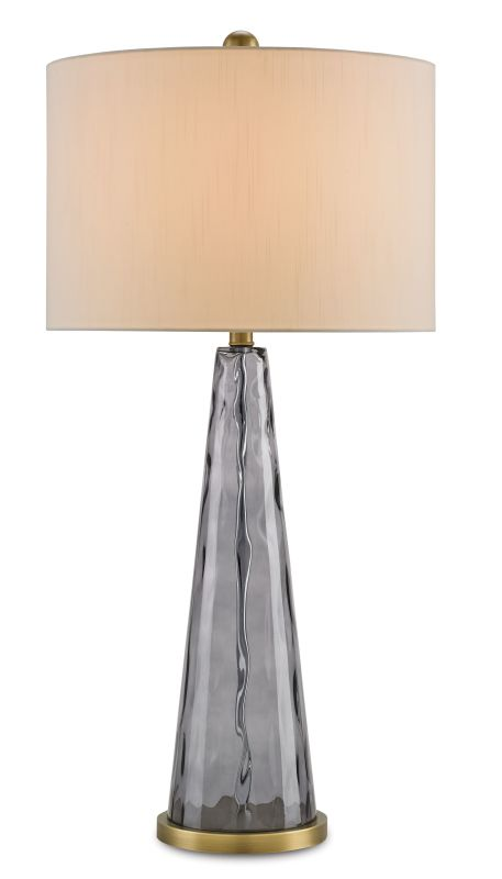 "Currey and Company 6544 Hydra Purple 34"" High Table Lamp Light Purple"