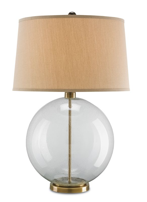 """Currey and Company 6589 Courtland 31"""" High Table Lamp Clear / Coffee"""